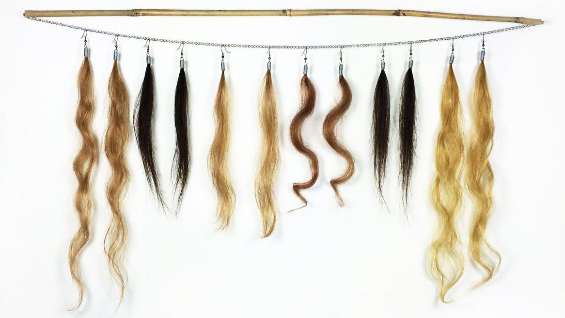 hairy earrings | Annienke